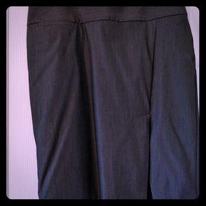 Charcoal Gray Side Slit Pencil Skirt